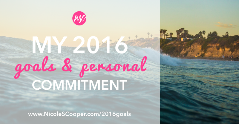 nicole s cooper 2016 goals and commitments